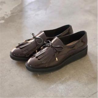 オゥバニスター(AU BANNISTER)のキルト オペラシューズ(ローファー/革靴)