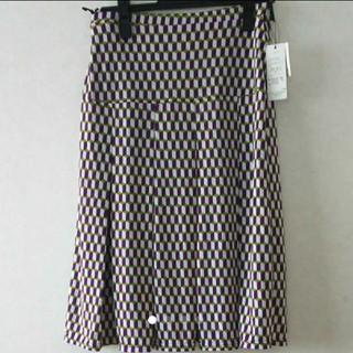 jouir 新品 レディース スカート パープル  L レア(ひざ丈スカート)