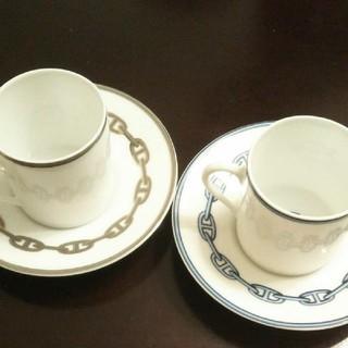 エルメス(Hermes)の【未使用】HERMES コーヒーペアカップ&ソーサー(グラス/カップ)