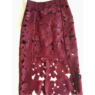 ジーナシス(JEANASIS)のレースタイトスカート Sサイズ(ひざ丈スカート)