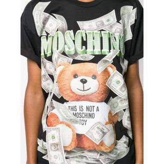モスキーノ(MOSCHINO)のモスキーノ ドルテディベア ロゴ Tシャツ オーバーサイズ(Tシャツ(半袖/袖なし))