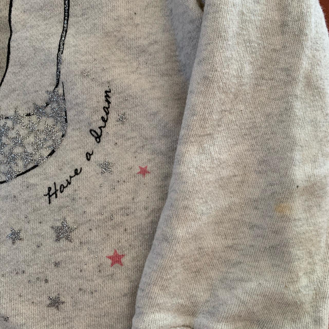 GLOBAL WORK(グローバルワーク)のグローバルワーク キッズ M キラキララメ トレーナー   キッズ/ベビー/マタニティのキッズ服女の子用(90cm~)(Tシャツ/カットソー)の商品写真