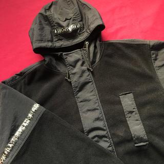 フィラ(FILA)の90s FILA リフレクターライン フリースジャケット フィラ オーバーサイズ(その他)