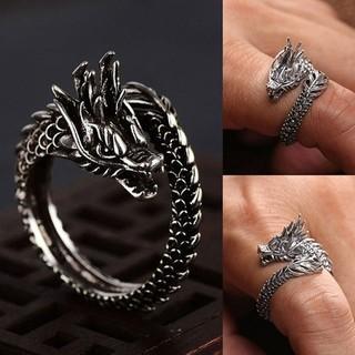 ドラゴンリング 竜モチーフ ブラックドラゴン(リング(指輪))