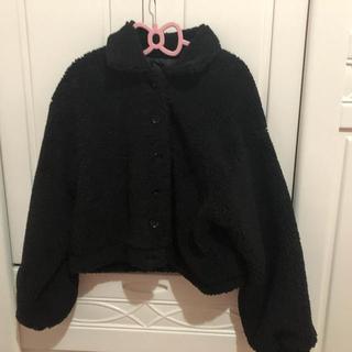 メリージェニー(merry jenny)のmerry Jenny 福袋ボアジャケット コート 黒(ブルゾン)