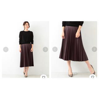 Demi-Luxe BEAMS - 【美品】Demi-Luxe BEAMS 合皮プリーツスカート