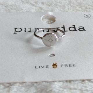 プラヴィダ(Pura Vida)のPura vida リング 指輪 コンパス US 6 シルバー ロンハーマン取扱(リング(指輪))