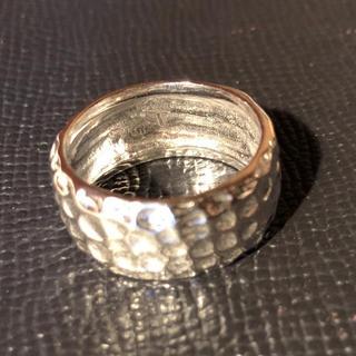 平打ち 叩き打ち シルバー925 リング  18号 ワイド 幅広 銀 指輪メンズ(リング(指輪))