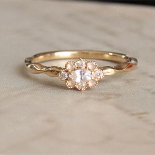 アガット(agete)のアガット クリスマス 2014 k18 ダイヤ&ホワイトサファイヤ(リング(指輪))