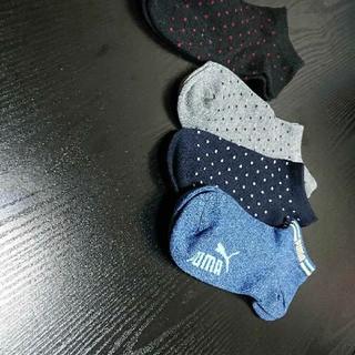 プーマ(PUMA)のPUMA靴下1足★新品未使用★水玉ノーブランド靴下(ソックス)