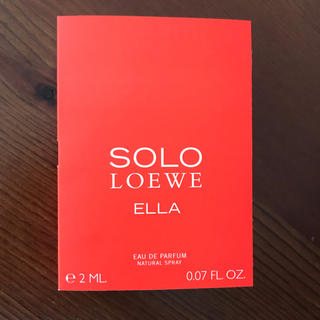 ロエベ(LOEWE)の〈新品未使用〉LOEWE(ロエベ)SOLO ELLA ウーマン サンプル(香水(女性用))