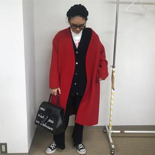 フレームワーク(FRAMeWORK)の 金子綾 × FRAMeWORK コラボ ノーカラーコート(ロングコート)