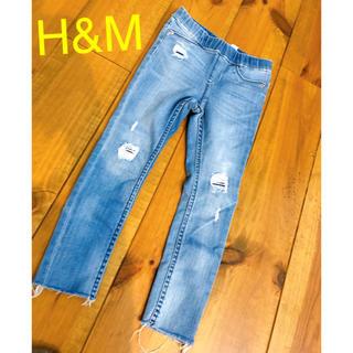 エイチアンドエム(H&M)のH&M デニム  クラッシュデニム デニム スキニー 110(パンツ/スパッツ)