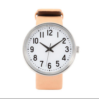 ムジルシリョウヒン(MUJI (無印良品))の無印良品 公園の時計 大 ベージュ (腕時計(アナログ))