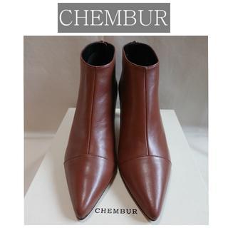 ドゥーズィエムクラス(DEUXIEME CLASSE)の19AW新品 CHEMBUR キャップトゥ アンクルブーツ 定価44000円(ブーツ)