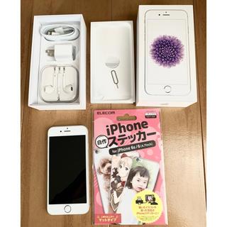 アイフォーン(iPhone)のiPhone6 16GB シルバー au(スマートフォン本体)