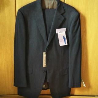 紳士スーツ 濃いグレー ストライプ(セットアップ)