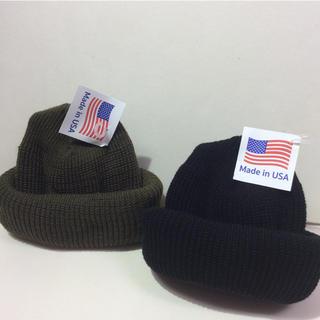 ロスコ(ROTHCO)のロスコニット帽 ブラック&オリーブ  2個SET(ニット帽/ビーニー)