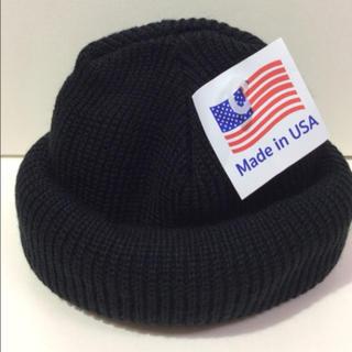ロスコ(ROTHCO)のロスコニット帽 ブラック 新品 軍モノ(ニット帽/ビーニー)