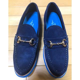 ヌーベルヴォーグリラックス スエードローファードライビングシューズ24.5(ローファー/革靴)