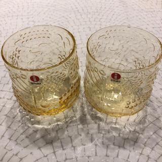イッタラ(iittala)の新品 iittala イッタラ フルッタ イエロー タンブラー 2個セット(グラス/カップ)