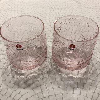 イッタラ(iittala)の新品 iittala イッタラ フルッタ ピンク イエロー2個セット(グラス/カップ)