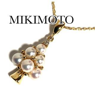 MIKIMOTO - ミキモト K18YG ダイヤ パール ツリー モミの木 ネックレス