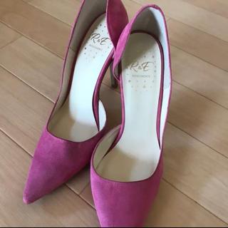 アールアンドイー(R&E)のR&E ヒール ピンヒール 靴 ピンク(ハイヒール/パンプス)