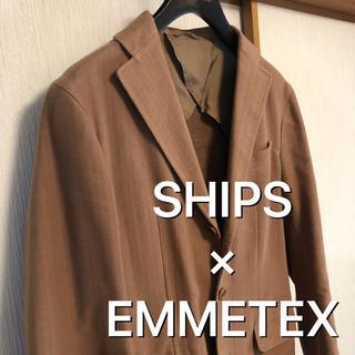 シップス(SHIPS)のSHIPS × EMMETEX ベージュ ジャケット(テーラードジャケット)