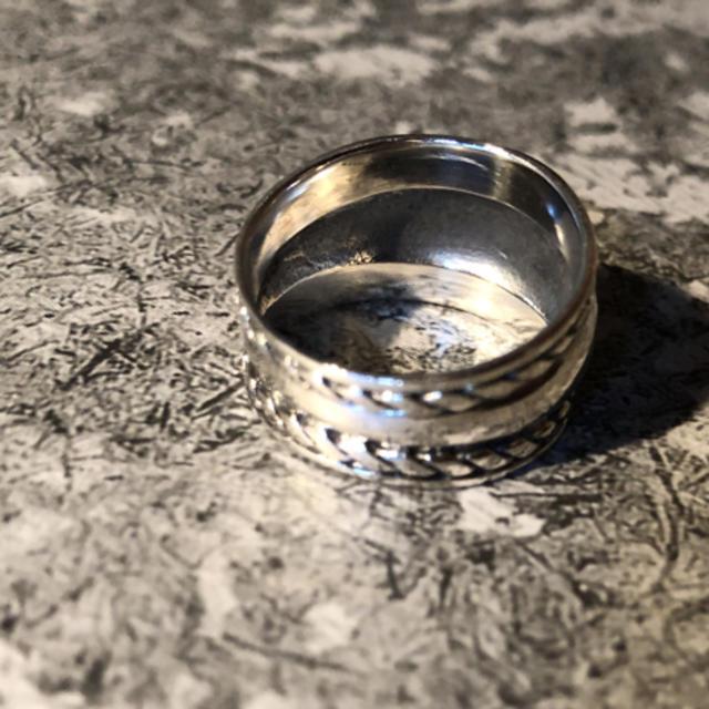 シルバー925 シルバーリング  シンプルリング スプーン 銀 指輪 メンズのアクセサリー(リング(指輪))の商品写真