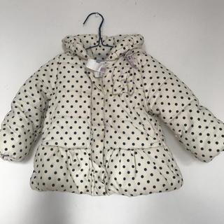 ブリーズ(BREEZE)の女の子 90 ドット フード付き中綿コート(コート)