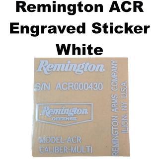 Remington ACR 刻印 メタルステッカー ホワイト 816-1153r(カスタムパーツ)