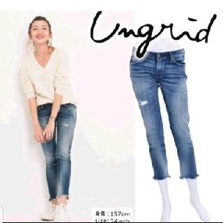 アングリッド(Ungrid)の大人気アングリッド♥クラッシュフレイドヘムストスリ26(スキニーパンツ)