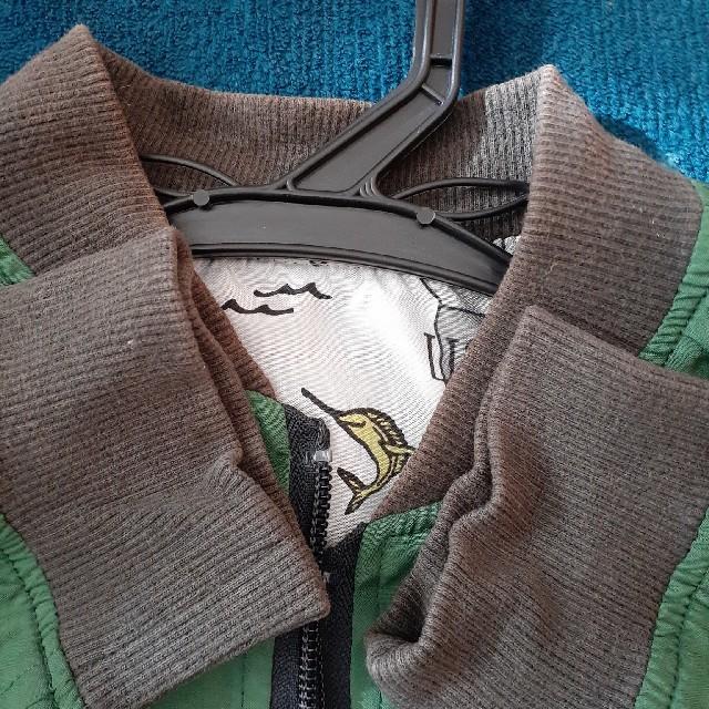 BREEZE(ブリーズ)の130センチ BREEZE濃緑&世界地図のリバーシブルブルゾン キッズ/ベビー/マタニティのキッズ服男の子用(90cm~)(ジャケット/上着)の商品写真