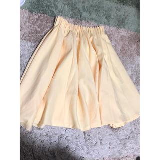 オペーク(OPAQUE)のイエロー 黄色 スカート 膝丈 オペーク(ひざ丈スカート)