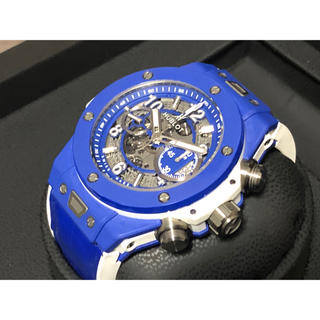 ウブロ(HUBLOT)のHUBLOT ウブロ ビッグバン ウニコ 限定モデル ブルー&ホワイト 国内正規(腕時計(アナログ))
