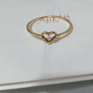 アーカー(AHKAH)のアーカー AHKAH ダイヤ リング クリスマス限定 ハート(リング(指輪))