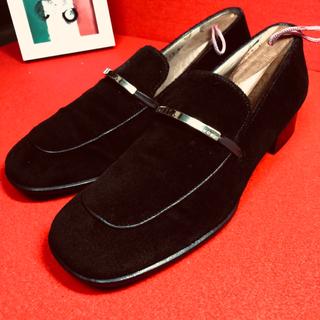 グッチ(Gucci)のGUCCI グッチ スエード+レザー スクウェア ローファー 23(ローファー/革靴)