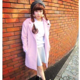 ウィゴー(WEGO)のピンク♡チェスターコート(チェスターコート)