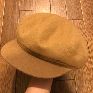 エルメス(Hermes)の希少 HERMES キャスケット 帽子 ベージュ 正規品(キャスケット)