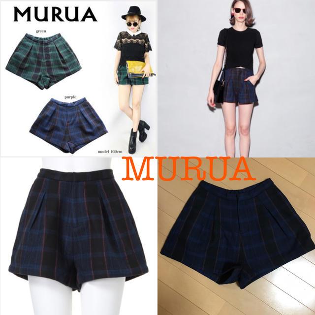 MURUA(ムルーア)の最終値下げ チェック ショートパンツ♡ レディースのパンツ(ショートパンツ)の商品写真
