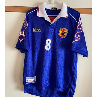 asics - サッカー日本代表ユニフォーム レプリカ 1998モデル 背番号、ネーム入り