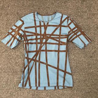 エルメス(Hermes)のHERMESリボンTシャツ36(Tシャツ(半袖/袖なし))