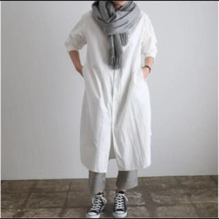 ヤエカ(YAECA)のTOUJOURS オーバーサイズ バンドカラーシャツドレス(ロングワンピース/マキシワンピース)