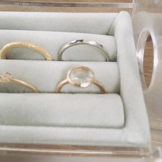 アガット(agete)のagete K10 ピンキーリング 3号(リング(指輪))