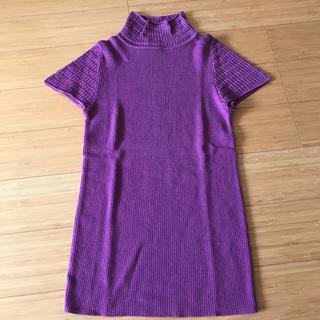 新品!DUAL VIEW デュアルヴュー Tシャツ カットソー パープル(カットソー(半袖/袖なし))