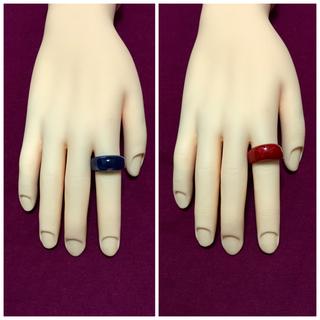 プラスチック指輪2点セット(リング(指輪))