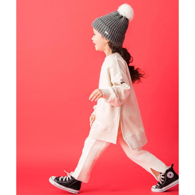 petit main(プティマイン)のプティマイン:ロングトレーナー キッズ/ベビー/マタニティのベビー服(~85cm)(トレーナー)の商品写真