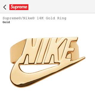シュプリーム(Supreme)のSUPREME NIKE 14k gold ring リング(リング(指輪))