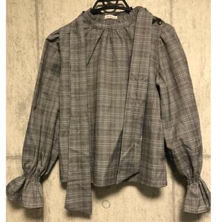 しまむら - ブラウス グレンチェック バルーン袖